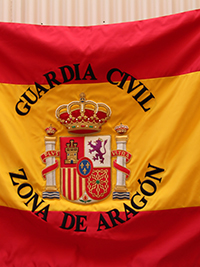 Bandera Nacional Guardia Civil Aragón