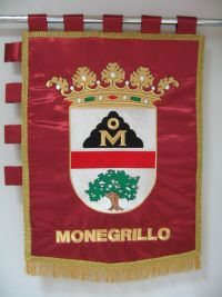 Estandarte municipal de Monegrillo
